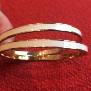 Kate spade white and gold bracelets